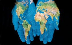 Mondo in nostre mani Immagine Stock Libera da Diritti