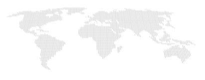 Mondo, programma del puntino dell'atlante Fotografie Stock Libere da Diritti