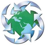 Mondo riciclato immagine stock