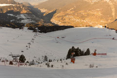 Mondo Ski Men Ita Downhill Race Fotografia Stock