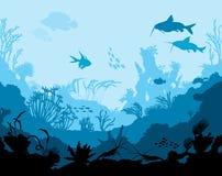 Mondo subacqueo dell'oceano con gli animali Immagine Stock Libera da Diritti