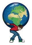 Mondo sui vostri shouldeers Illustrazione Vettoriale