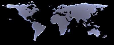 Mondo sul nero illustrazione vettoriale