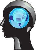 Mondo sulla sua testa illustrazione di stock