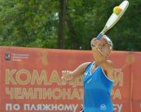 Mondo Team Championship 2014 di beach tennis Immagini Stock Libere da Diritti