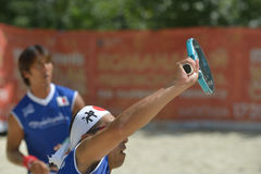 Mondo Team Championship 2014 di beach tennis fotografie stock