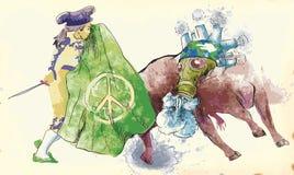 Mondo verde - bullfight III Immagini Stock