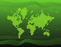 Mondo verde e binario Fotografia Stock Libera da Diritti