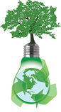Mondo verde rigenerato riciclando i materiali Immagine Stock