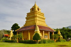MondopMandapa.Wat Si Po Chai,Na Haeo District,Loei Province,Thailand. Stock Photos