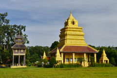 MondopMandapa.Wat Si Po Chai,Na Haeo District,Loei Province,Thailand. Royalty Free Stock Photos
