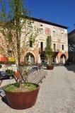 Mondovi, Cuneo, аркада Maggiore - центральная площадь стоковое фото rf