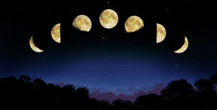 Mondphase stock abbildung