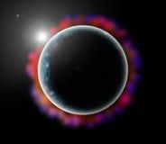 Mondplanet lizenzfreies stockfoto