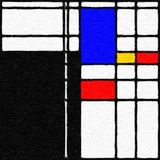 Mondrian воодушевило картину 02 цифров Стоковая Фотография