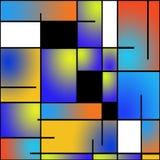 mondrian绘画可重复的样式 库存图片
