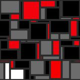 Mondrian Abstract Background Pattern. A funky red, black and grey mondrian polygon background Royalty Free Illustration