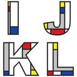 mondrian alfabet Obrazy Stock