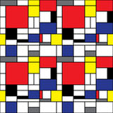 Mondrian bakgrund Arkivbilder