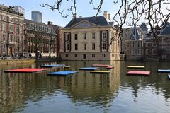 Mondrian celebration in The Hague, Holland Royalty Free Stock Images