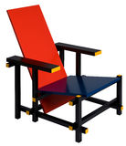 Mondrian Chair Royalty Free Stock Photos