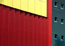 Mondrian geïnspireerden architectuur Royalty-vrije Stock Foto's