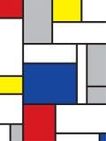 Mondrian geïnspireerdi art. Royalty-vrije Stock Foto