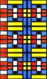 Mondrian-Glasbeschaffenheit Lizenzfreie Stockbilder