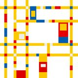 Mondrian grid inspiration Stock Photography