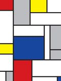 Mondrian inspired art Royalty Free Stock Photo