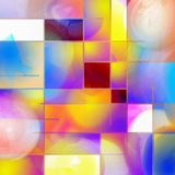 Mondrian Inspired. Colorful abstract composition. Mondrian style inspired royalty free illustration