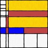 Mondrian inspirou a pintura 03 de Digitas Fotografia de Stock