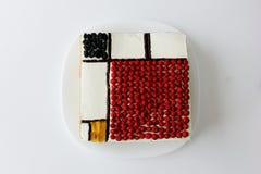 Mondrian-Kuchen stockfotografie