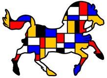 Mondrian-Pferd Stockfoto