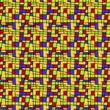 Mondrian squares seamless background Royalty Free Stock Photos
