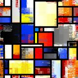 Mondrian Style Design. Seamless Vector Pattern. Stock Photography