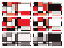 Mondrian style vector illustration. Colour variations of a vector background inspired by Piet Mondrian royalty free illustration