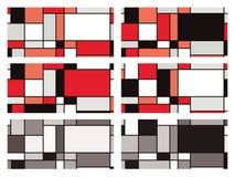 Mondrian style vector illustration Stock Images