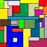 Mondrian texture. Abstract vector art illustration; more textures in my gallery royalty free illustration