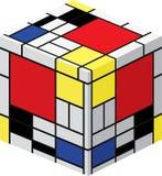 Mondrian Würfel Lizenzfreie Stockfotos