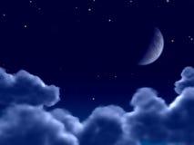 Mondschein stock abbildung