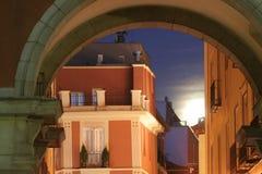 Mondschein in Madrid lizenzfreie stockfotos