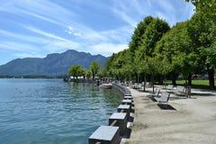 Mondsee在奥地利在夏天 库存照片
