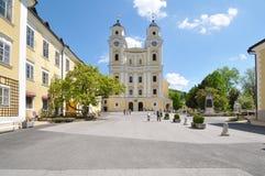 Mondsee abbotskloster, Salzburg, Österrike Arkivfoto