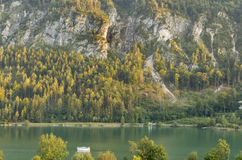 Mondsee Alpine lake autumn landscape, Austria Royalty Free Stock Photography
