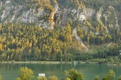 Mondsee Alpine lake autumn landscape, Austria Royalty Free Stock Photography