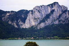 Mondsee,Austria. Beautiful lake and mountain in Mondsee,Austria Royalty Free Stock Images