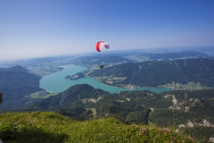 The Mondsee in Austria seen from Schafberg Royalty Free Stock Photos