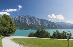 Mondsee jezioro fotografia royalty free