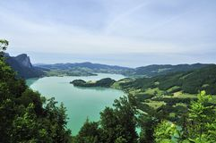 Mondsee Mountain Lake Stock Photo